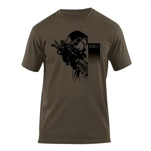 5.11 Tactical Shooter T-Shirt in OD Green, 40088Y