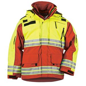 5.11 Tactical Responder Hi-Vis Parka - Mens, in Red, 48073