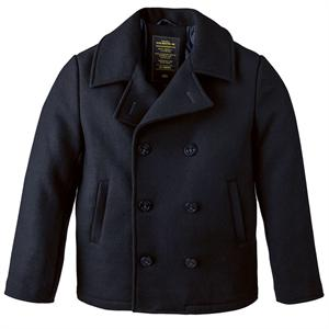 Ahoy Pea Coat in Navy