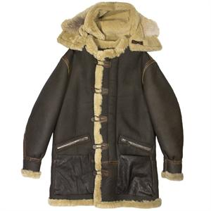 Cockpit B-7 Aleutian WWII Sheepskin Parka - Brown - Z21M035