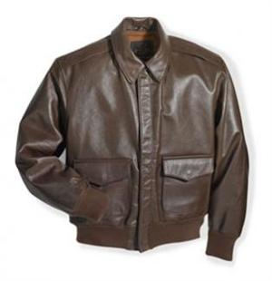Cockpit USA Z2107HL - WWII Government Issue A-2 Jacket Long - Leather Bomber Jacket