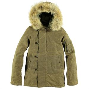 Cockpit Mountain Fur Hood Coat - Cement - Z26K001