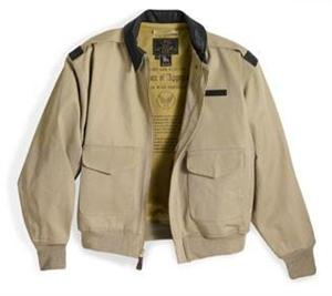 "Cockpit USA Style: Z2979 - all Cotton ""100 Mission"" A-2 Jacket, in Khaki or Black - Aviator Jacket"