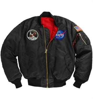 Apollo MA-1 Flight Jacket in Black
