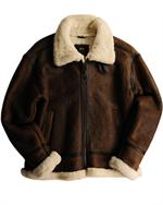 Alpha Industries jackets -  B-3 Sherpa - Leather Bomber Jacket