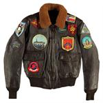 "Cockpit ""Movie Heroes"" Top Gun Navy G-1 Jacket - Brown - Z201036T"