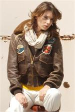 Cockpit USA W201036 - Women's TopGun Jacket - Leather Bomber Jacket