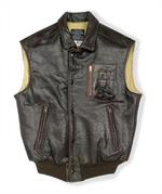 Cockpit USA Z2129V - Stearman Leather Vest - Leather Bomber Jacket