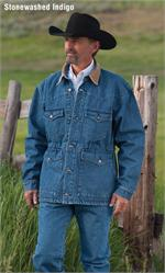 Schaefer Outfitter 206 Blanket Lined Denim Saddle Coat - Stonewashed Indigo - SCH-206